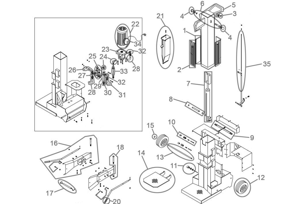 g de holzspalter dhh 1050 9 tfc serie 37459 ersatzteile. Black Bedroom Furniture Sets. Home Design Ideas