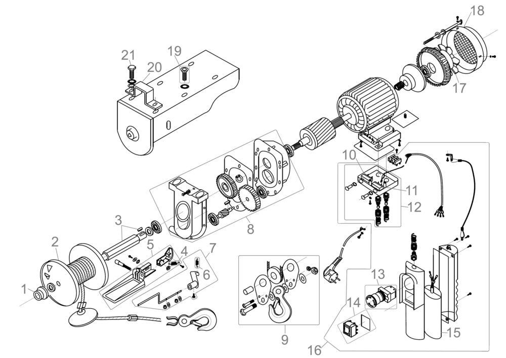 g de elektrischer seilzug gsz 125 250 serie 58854 ersatzteile. Black Bedroom Furniture Sets. Home Design Ideas