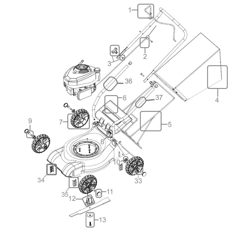 güde rasenmäher eco wheeler 410 p serie 52458 ersatzteile