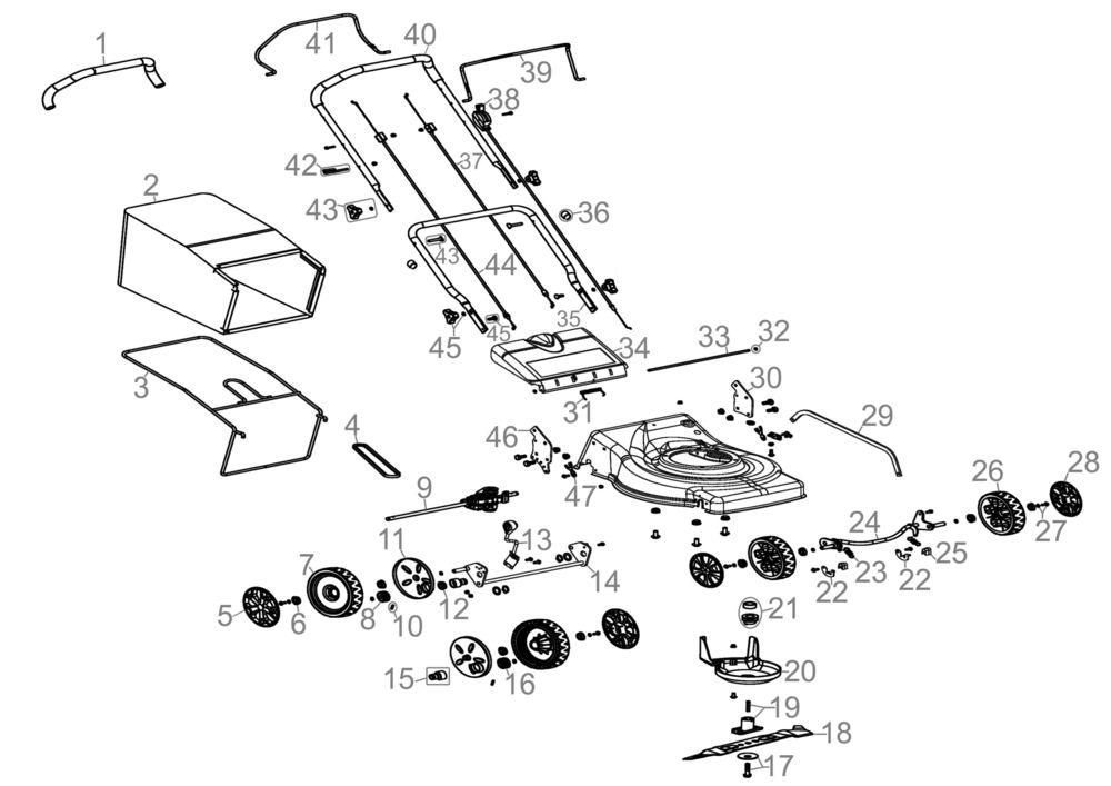 g de rasenm her big wheeler 460 bs serie 59124 ersatzteile. Black Bedroom Furniture Sets. Home Design Ideas