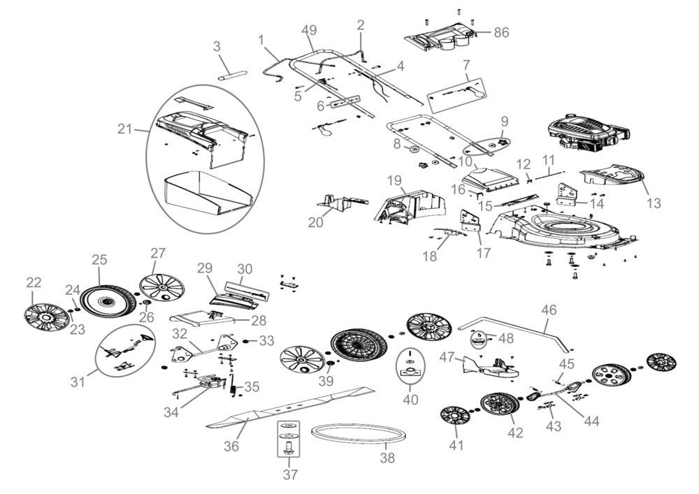 g de rasenm her big wheeler 515 4in1 serie 56914 ersatzteile. Black Bedroom Furniture Sets. Home Design Ideas