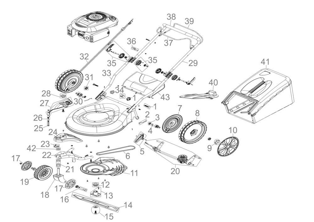 powertec garden rasenm her big wheeler 510 trike serie. Black Bedroom Furniture Sets. Home Design Ideas