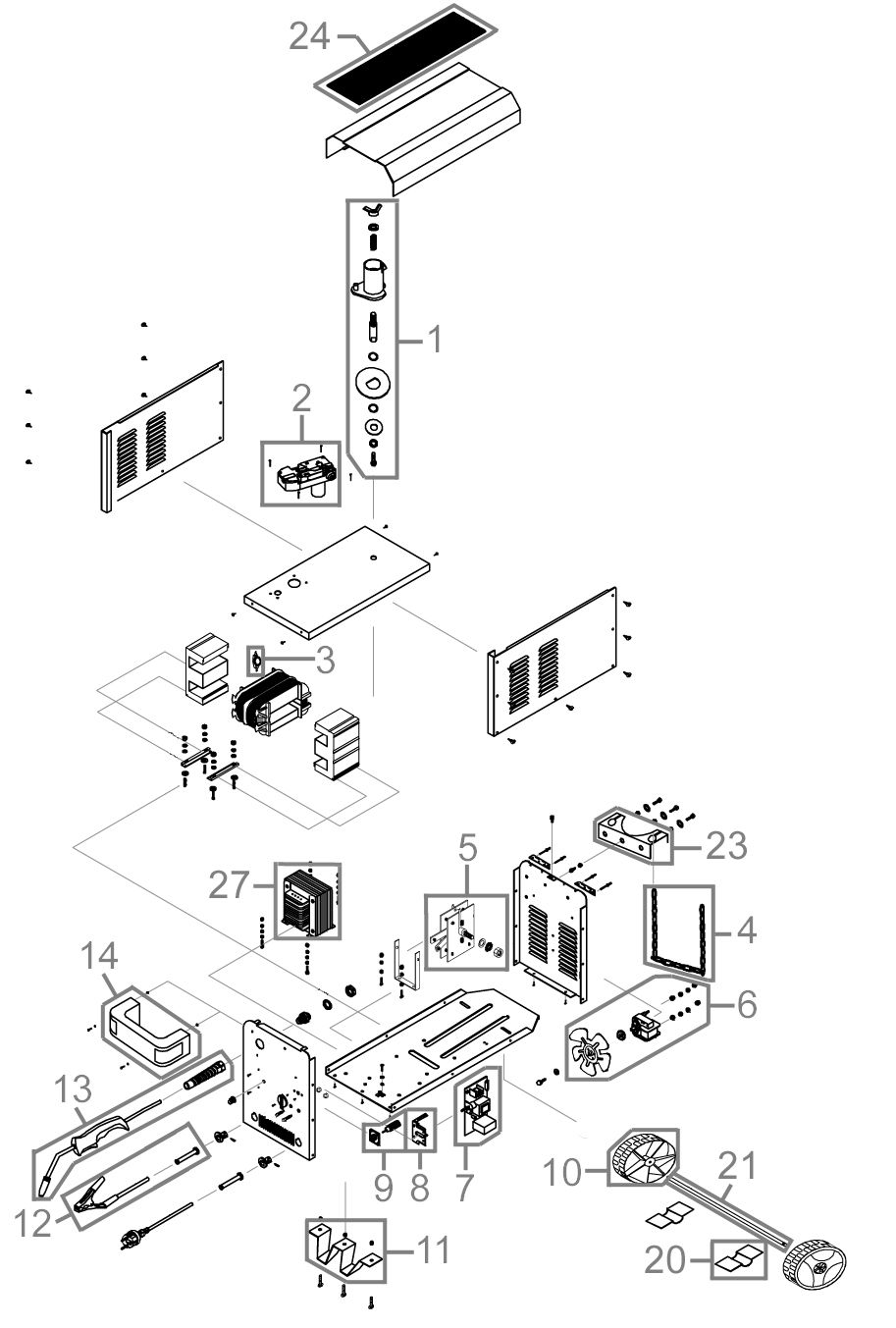 g de schutzgas schweissger t mig155 6w serie 64188 ersatzteile. Black Bedroom Furniture Sets. Home Design Ideas