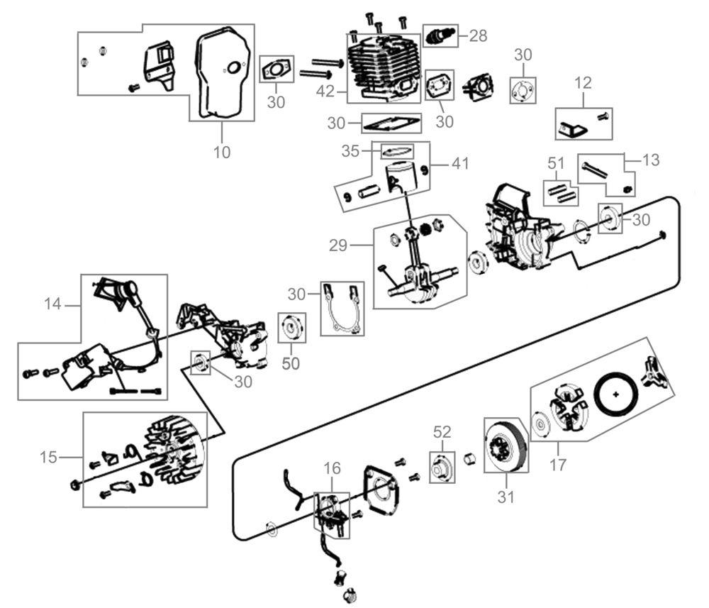 güde motorkettensäge ks 350 b serie 01 ersatzteile