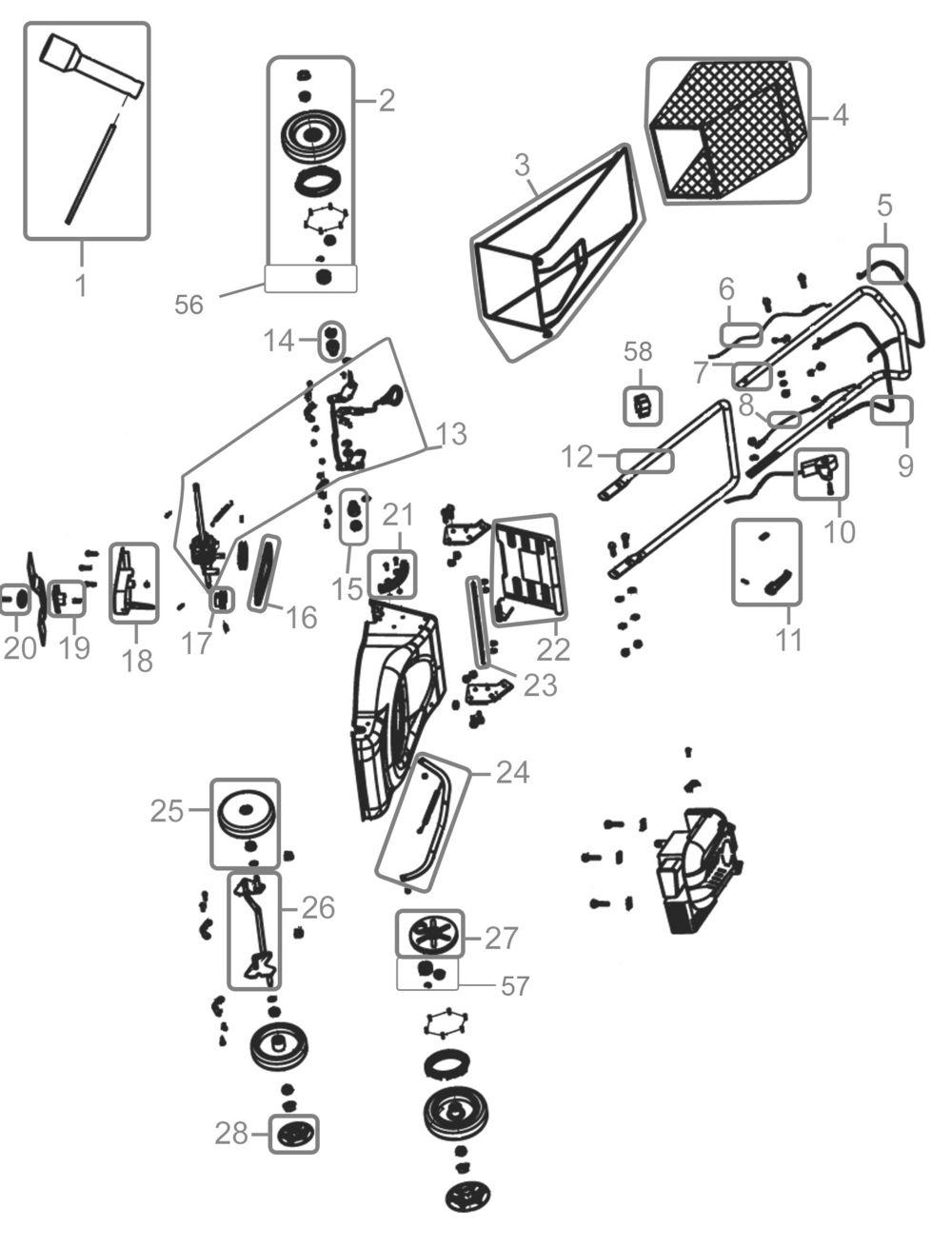 g de rasenm her big wheeler 460 ap serie 01 ersatzteile. Black Bedroom Furniture Sets. Home Design Ideas