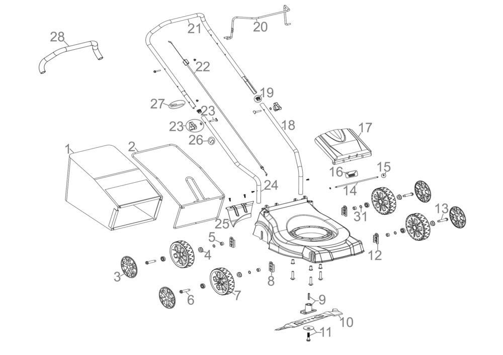 g de rasenm her eco wheeler 410 p2 serie 59098 ersatzteile. Black Bedroom Furniture Sets. Home Design Ideas