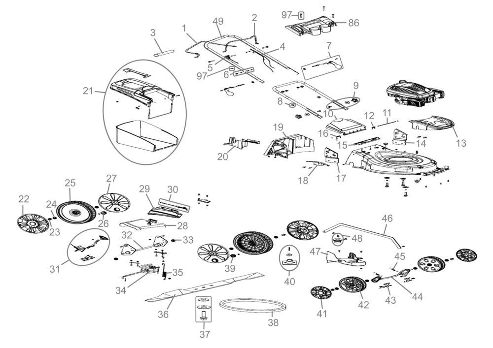 g de rasenm her big wheeler 515 4in1 serie 01 ersatzteile. Black Bedroom Furniture Sets. Home Design Ideas