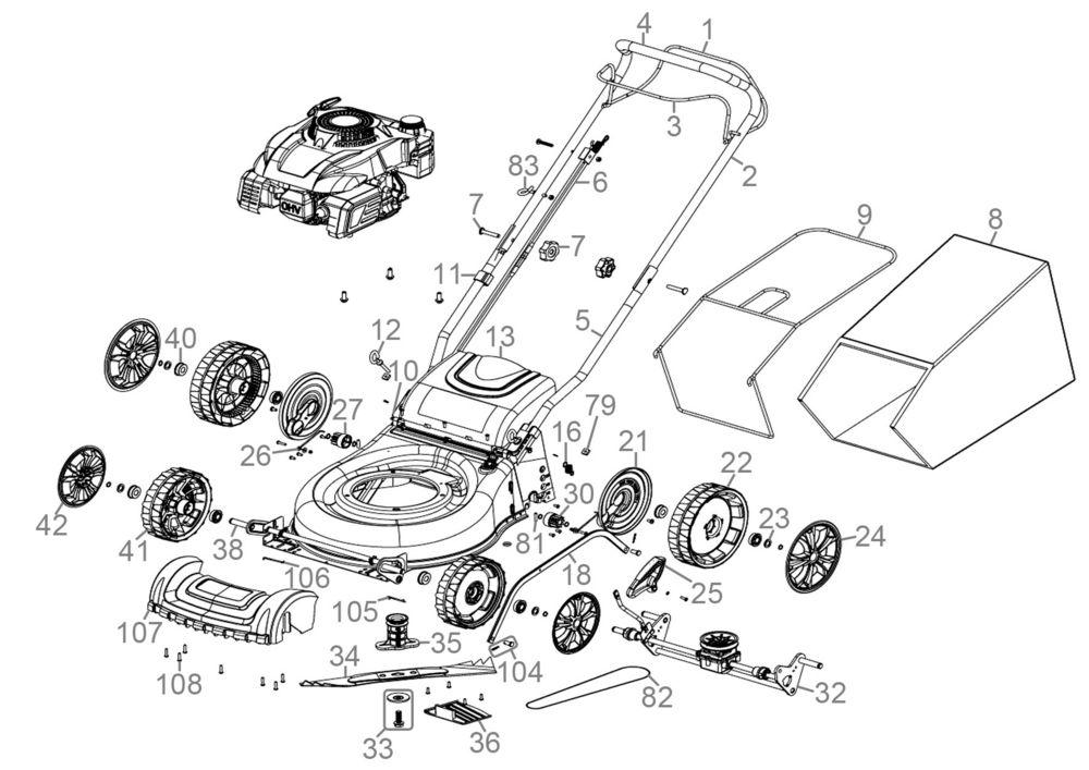 g de rasenm her eco wheeler 405 sd serie 63457 ersatzteile. Black Bedroom Furniture Sets. Home Design Ideas